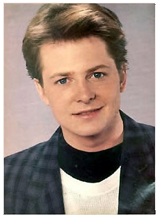 The 80s wallpaper with a portrait entitled Michael J. Fox