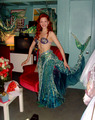 Michelle as Ariel, costumes