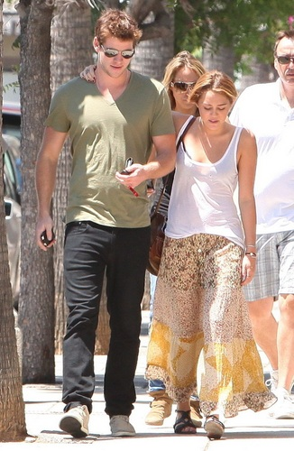 Miley - Out in Pasadena - August 17, 2011