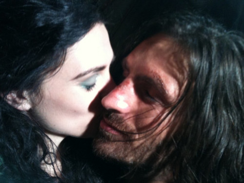 Morgana and Gwaine kiss