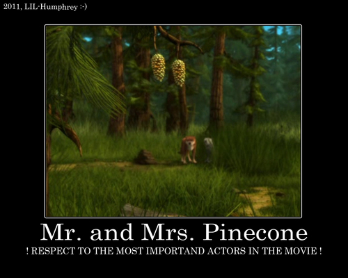 Mr. & Mrs. Pinecone!