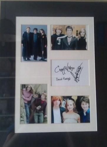 My Framed Signed Pictures kwa Dan, Rupert & Emma