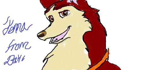 My artwork of jenna from balto