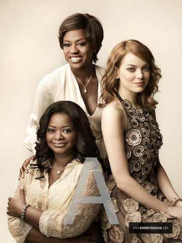 New fotografias of Emma and the cast of 'The Help' from the photoshoot for EW.