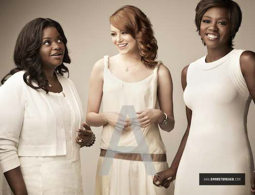 New ছবি of Emma and the cast of 'The Help' from the photoshoot for EW.