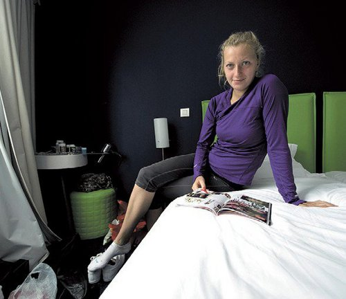 Petra Kvitova in bed