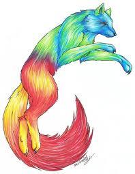 regenboog wolf
