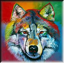 радуга волк