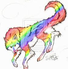 arcobaleno lupo