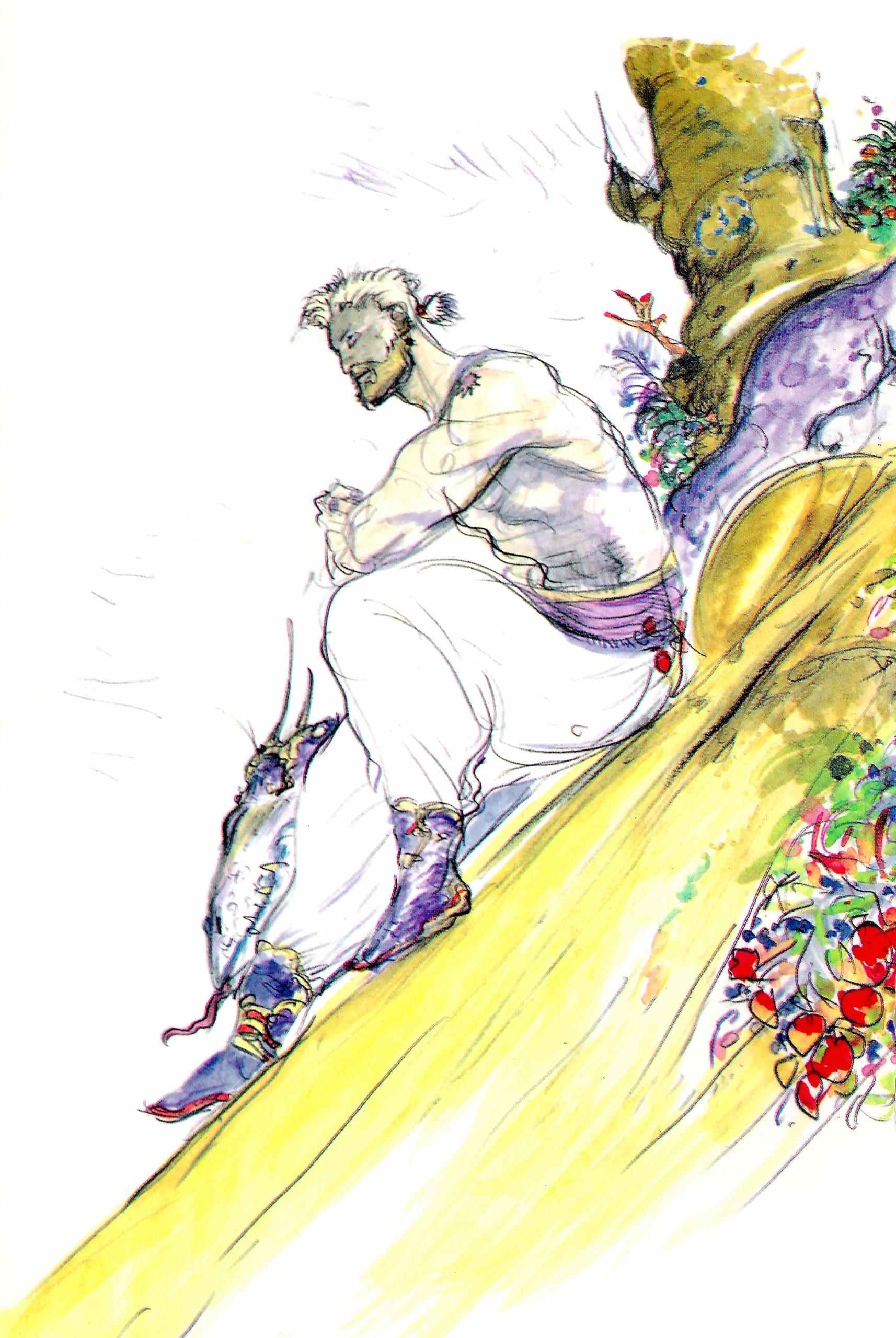 Sabin Final Fantasy Eyes On Final Fantasy Final Fantasy Fan Art