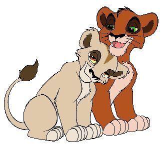 Scar and Zira as cubs