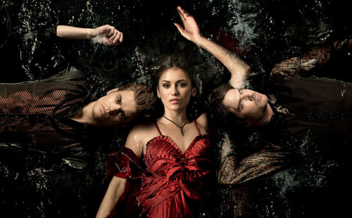The Vampire Diaries TV Show wallpaper containing a dinner dress called Season 3 Photoshoot