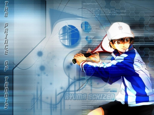 Prince of Tennis wallpaper with a sign entitled Seigaku Echizen