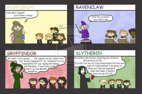 Harry Potter karatasi la kupamba ukuta with anime entitled Sex Ed at Hogwarts O_o