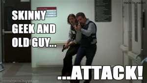 Skinny Geek & Old Guy Attack
