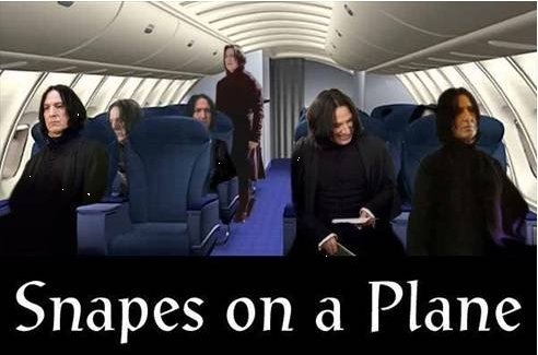 Severus Snape wallpaper entitled Snapes on a Plane