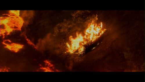 bintang Wars: Revenge of the Sith wallpaper with a fire, a fire, and a sunset entitled bintang Wars: Revenge Of The Sith