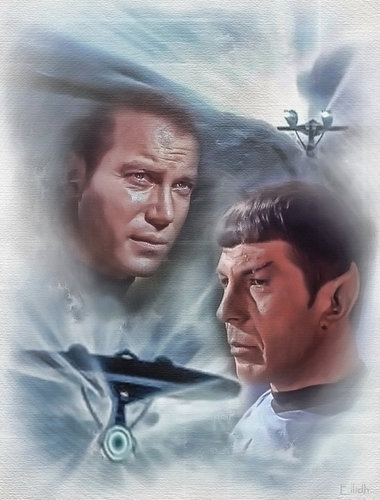 TOS Spock and Kirk