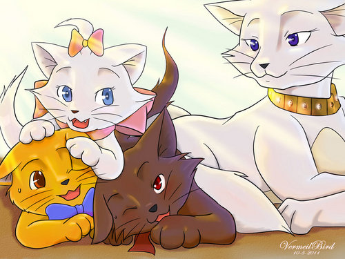 The Aristocats karatasi la kupamba ukuta containing anime entitled The Aristocats