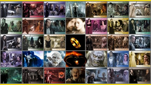 el señor de los anillos fondo de pantalla with a puesto de periódicos titled The Lord of the Rings characters full HD
