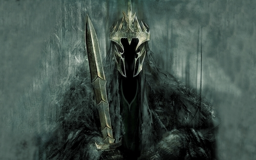 el señor de los anillos fondo de pantalla possibly with a grainfield and a cruzar, cruz titled The Witch King