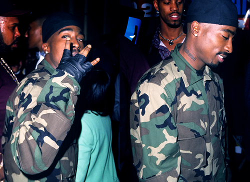 Tupac Shakur wallpaper containing a green beret, battle dress, and fatigues titled Tupac