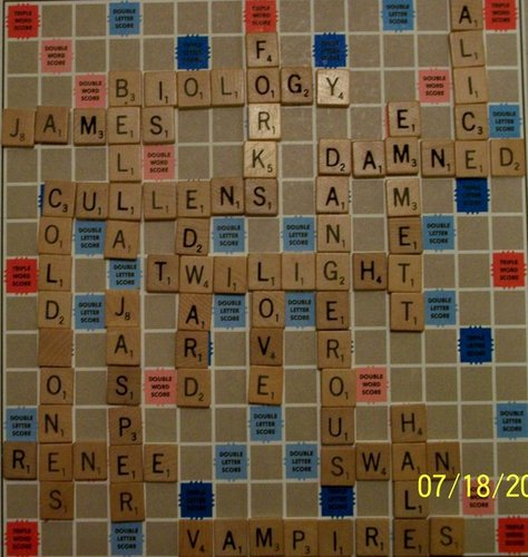 Twilight Series پیپر وال probably with a sign entitled Twilight Meets Scrabble