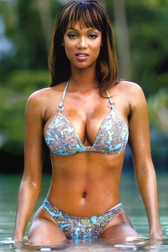 Models wallpaper containing a bikini called Tyra Banks