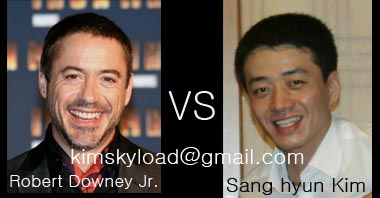Very look like Robert Downey Jr Sang Hyun Kim