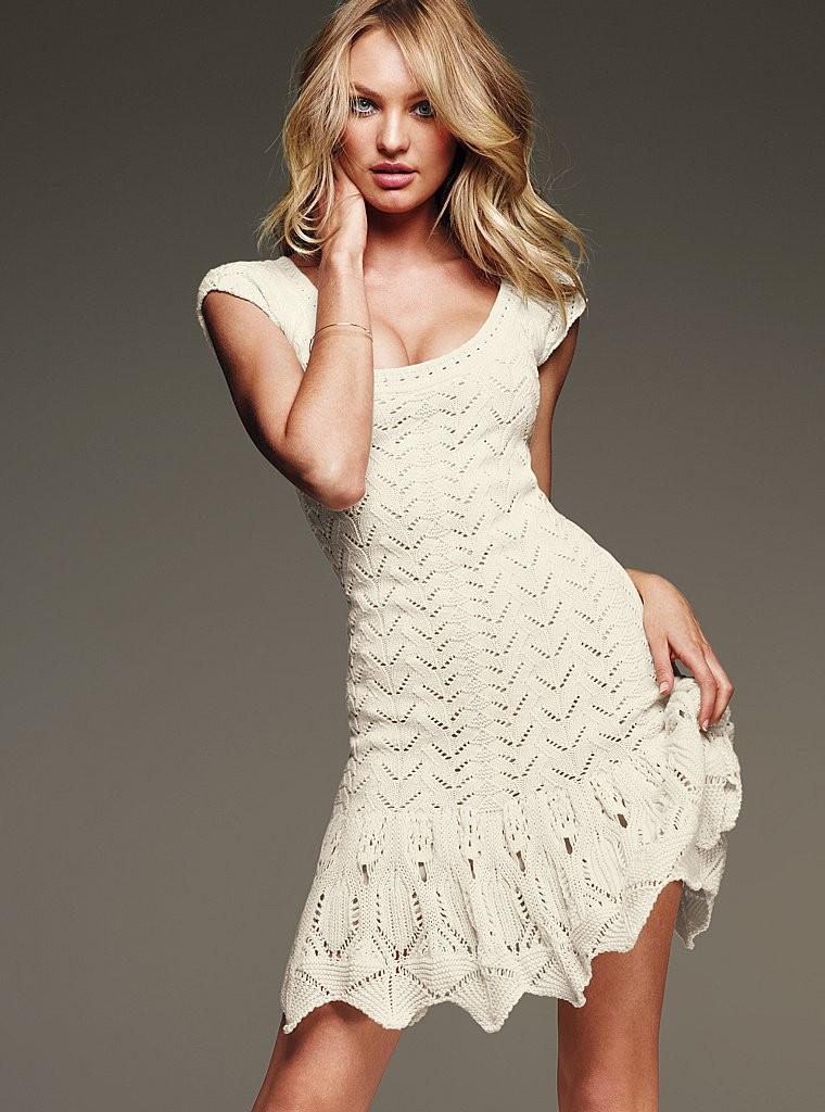 Вязаные ажурные платья