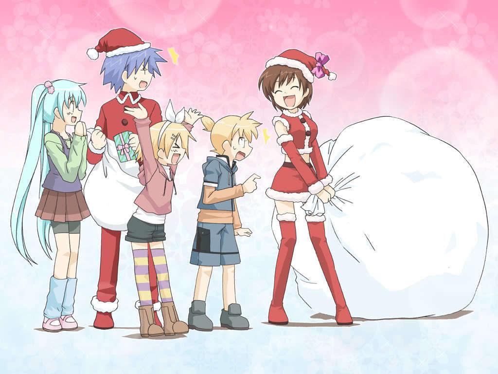 hatsune miku christmas wallpaper - photo #29