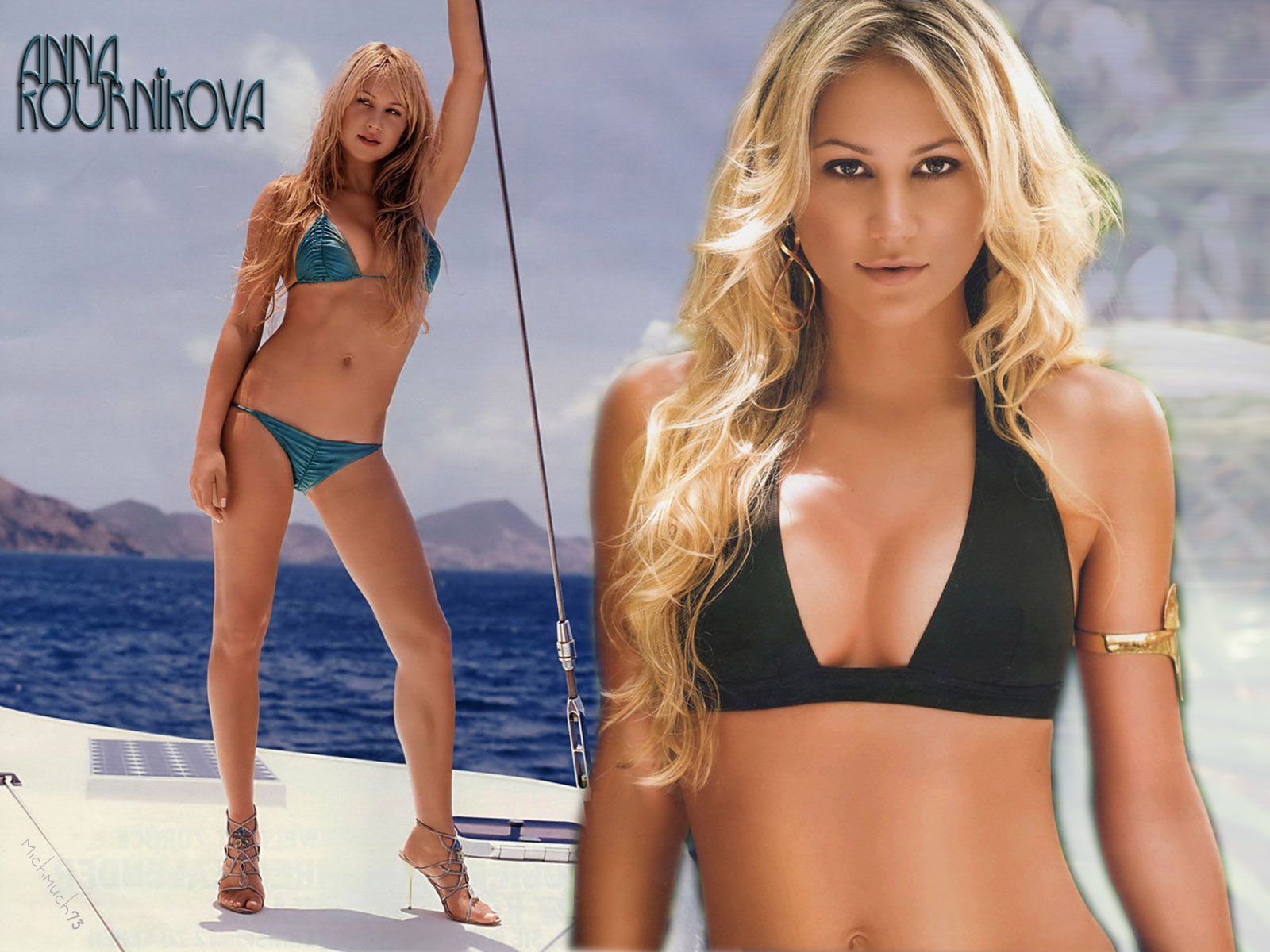wta images anna kournikova in sea worthy pursuits hd wallpaper and background photos 24620298
