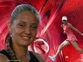 Anna Chakvetadze in Blood Swirl - wta wallpaper