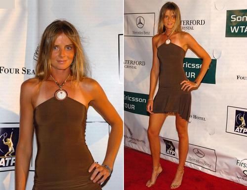 Daniela Hantuchová in Little Brown Dress