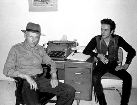 William S. Burroughs with Joe Strummer