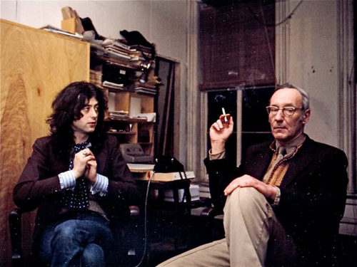 Jimmy Page with William S. Burroughs
