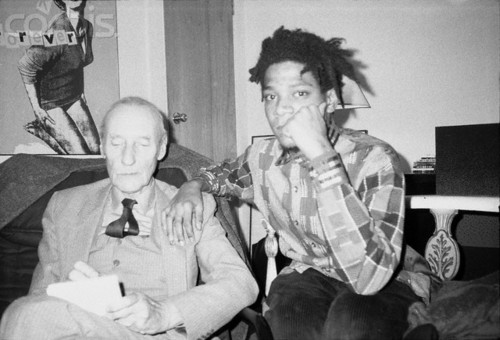 William S. Burroughs with Jean Michell Basquiat