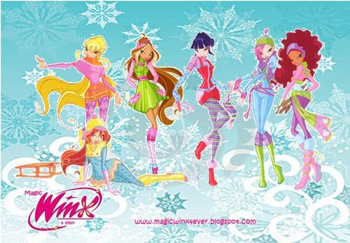 Winx Club Girl are Skating