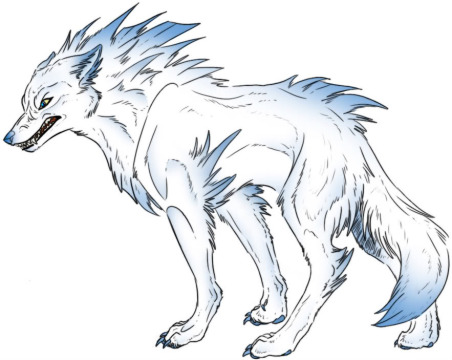 Images of drawings of wolves