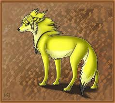 Yellow Anime Wolf Wolves images Yellow W...