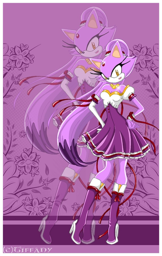 Blaze the Cat wallpaper containing anime titled blaze