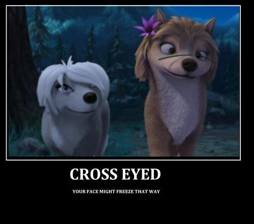 पार करना, क्रॉस eyed