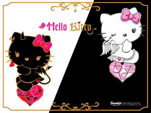 Hello Kitty images evil and good wallpaper and background photos