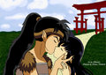 koga and kagome's kiss