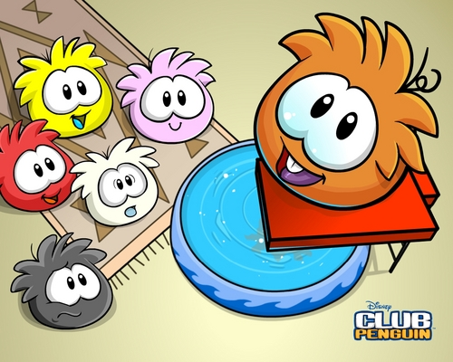 Club Penguin wallpaper containing anime titled puffles