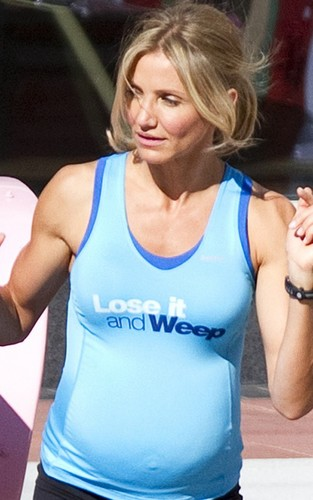 "Cameron Diaz on the Atlanta, Georgia set of ""What to Expect When You're Expecting"" (August 23)."