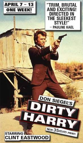 ☆ Clint Eastwood as Dirty Harry