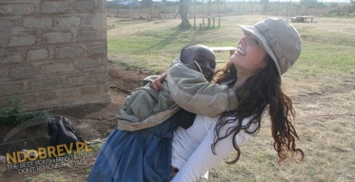 2007: Nina Building Degrassi School in Oloomirani, Kenya
