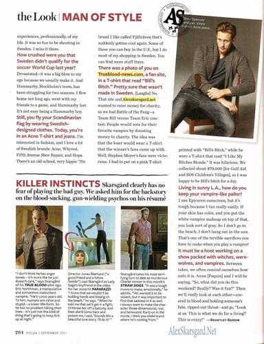 Alexander Skarsgård [InStyle Magazine September 2011]