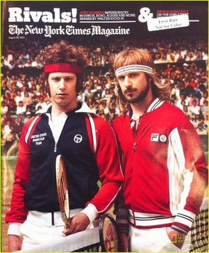 Andy Samberg: McEnroe & Borg for 'NYT' Magazine!